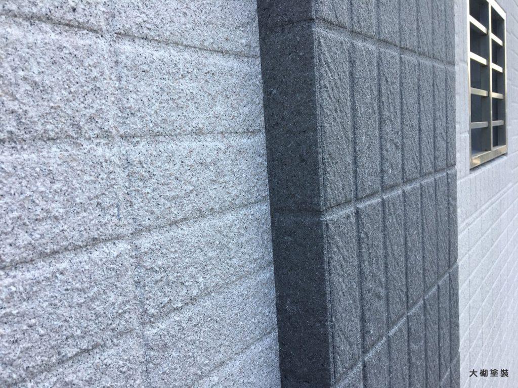 外牆塗料拉皮-磁磚不整平面